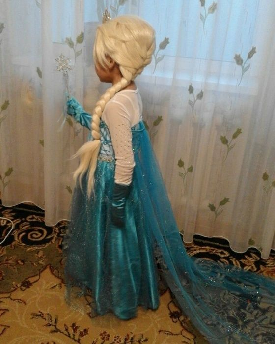 Новое Платье Эльзы, Холодное сердце, новогодние костюмы Алматы, Астана
