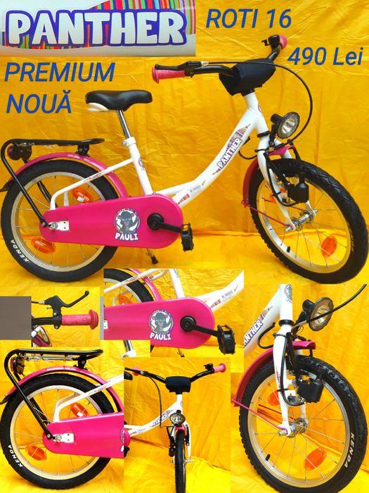 Bicicletă PREMIUM PANTHER cu roti 16 recomandata copiilor 5-8 Ani NOUĂ