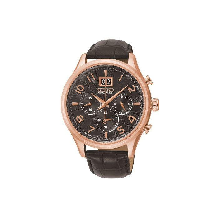 Мъжки часовник Seiko Chronograph Quartz Black Dial