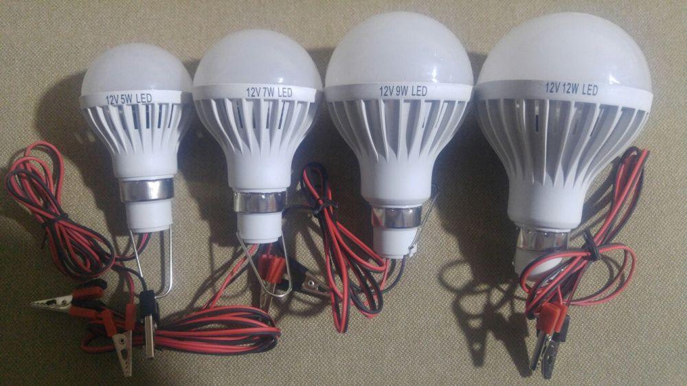 Светодиодные 12-ти Вальтовые лампочки, есть: 5, 7, 9, 12 ват.