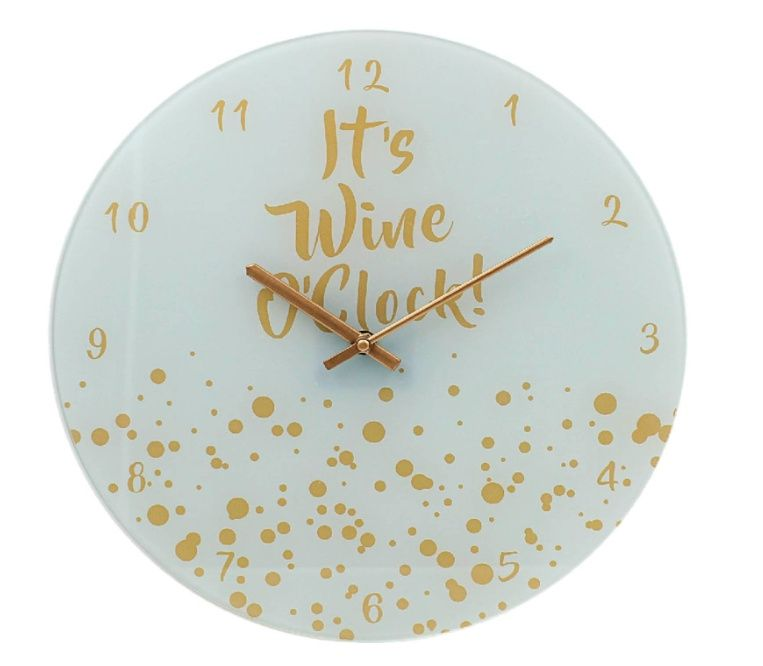 Стенен часовник It's wine o'clock