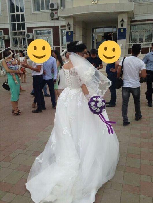 прокат 15000тг , свадебное платье