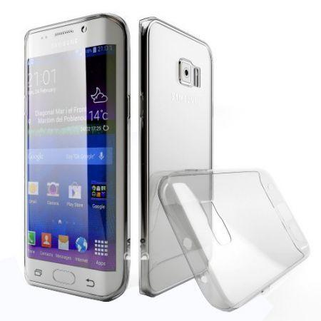 Husa Ultra slim TPU pentru Samsung Galaxy S6 Edge, Transparenta