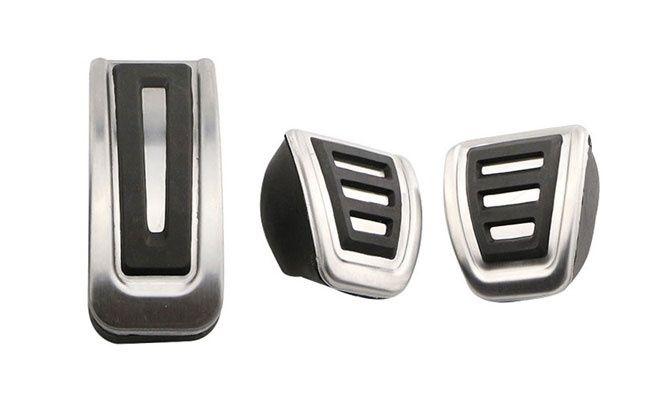 Ornamente inox pedale - VW Golf 3-4 / Polo / Bora, Skoda, Seat, Audi