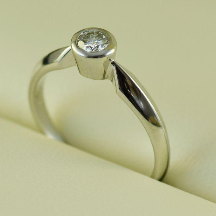 Inel logodna cu diamant (cod 607)