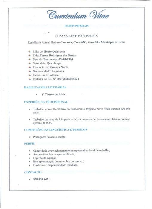 Prestação de serviço- Domestica