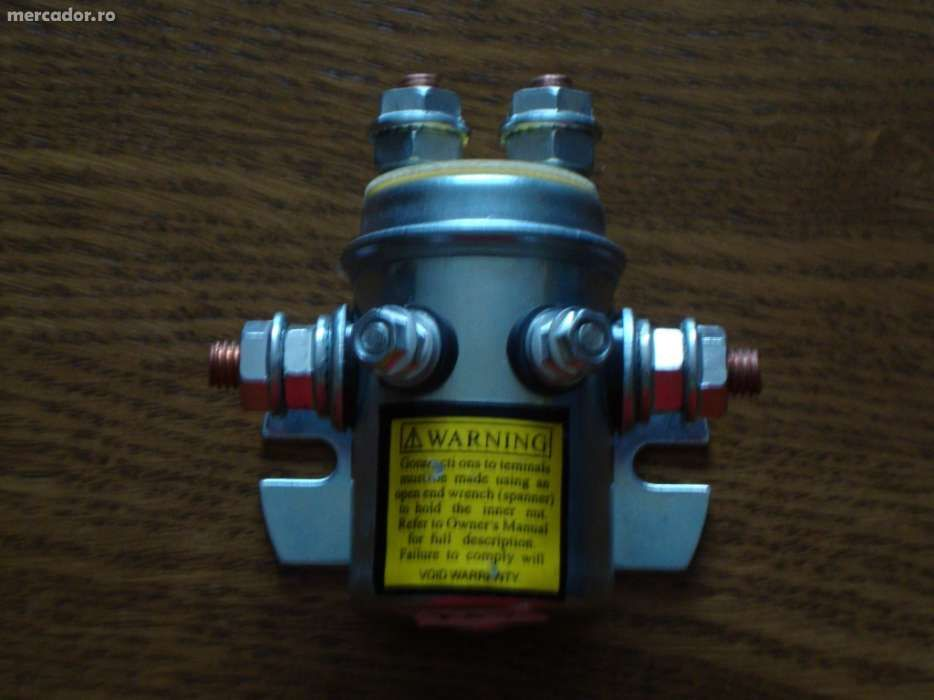 Solenoid, bobina de sens, releu de 300 A la 12V pentru troliu