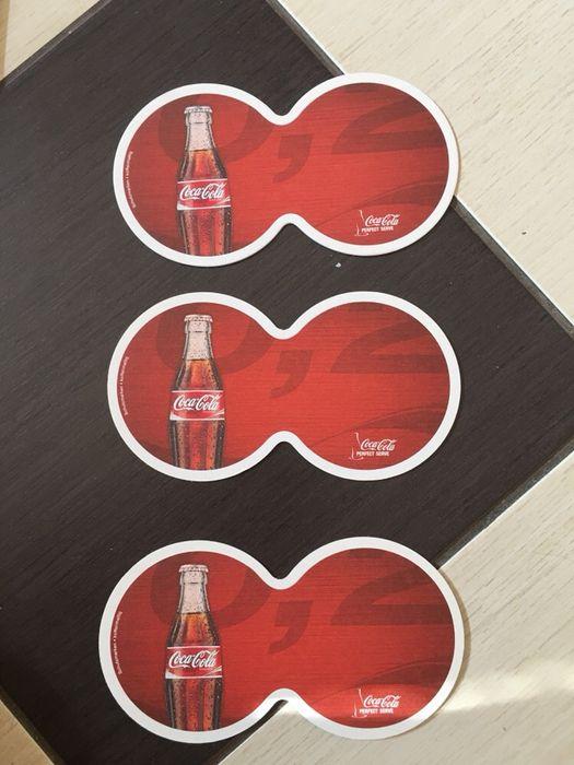 Coastere / cartonase / suport pahare coca cola colectie