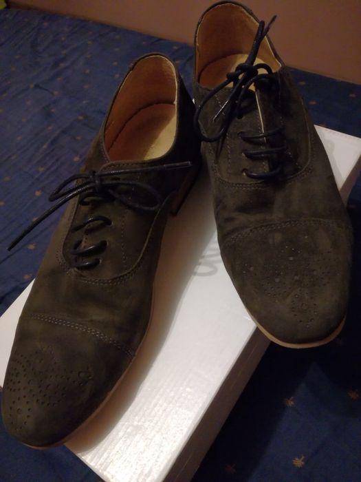 Pantofi tip Oxford dama piele