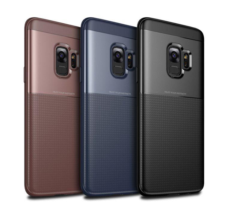 Husa protectie inalta antisoc Jison Case, Samsung S9, negru, maro,blue