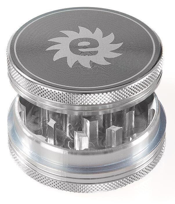 Grinder aluminiu, NOU, SIGILAT, 2 piese, argintiu, diametru 6.1 cm