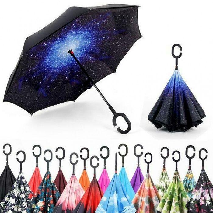 ДОСТАВКА! Умный зонт, антизонт, смарт зонт, зонт наоборот!