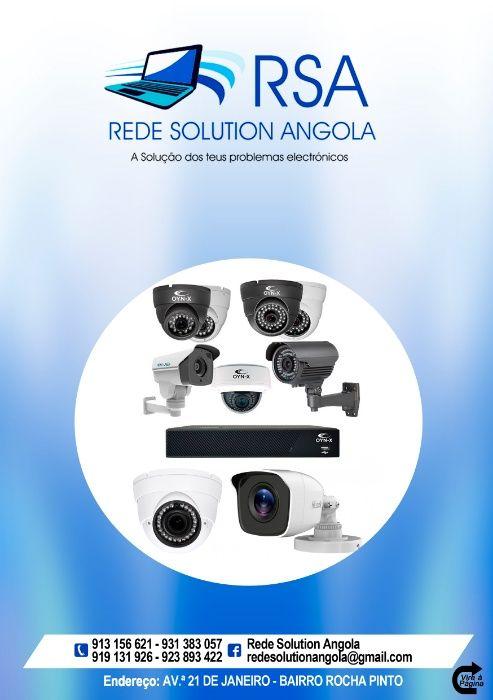 kit de vigilância de 4 câmaras + DV-R + Disco duro + Montagem
