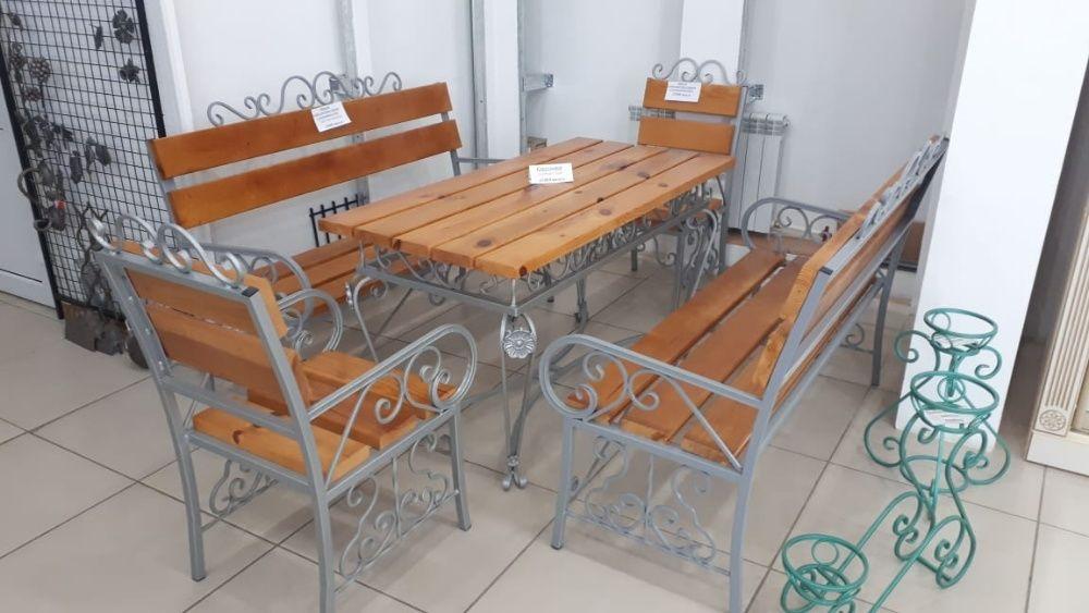 Кованные и деревянные столы и лавки На Заказ