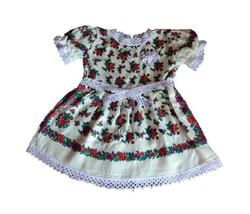 Rochie fetite 6-24 luni cu motive traditionale maramuresene