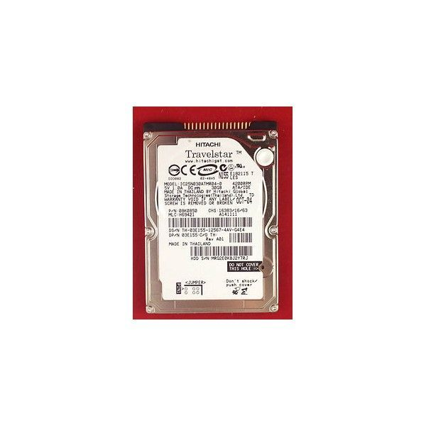hard disk laptop ide 2.5 hitachi travelstar 30gb ic25n030atmr04-0