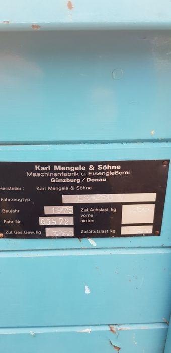 Remorca pentru transport si imprastiat gunoi de grajd MENGELE Hunedoara - imagine 8