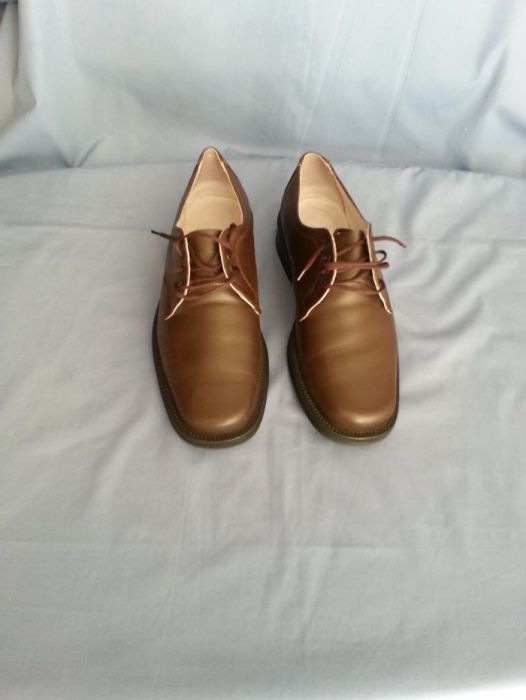 Pantofi maro de piele