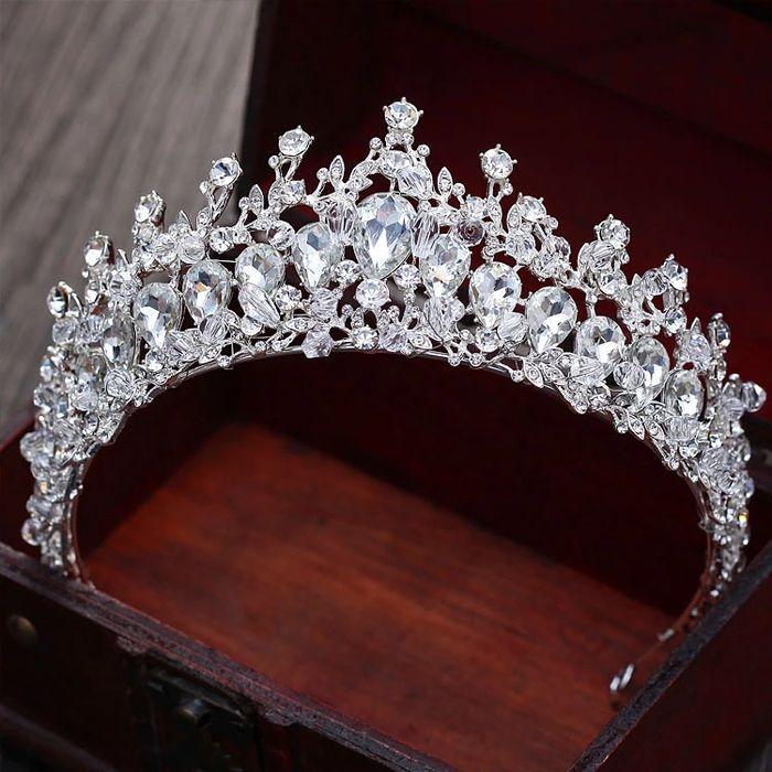 Diadema / coronita/ tiara mireasa cu cristale tip Swarovski