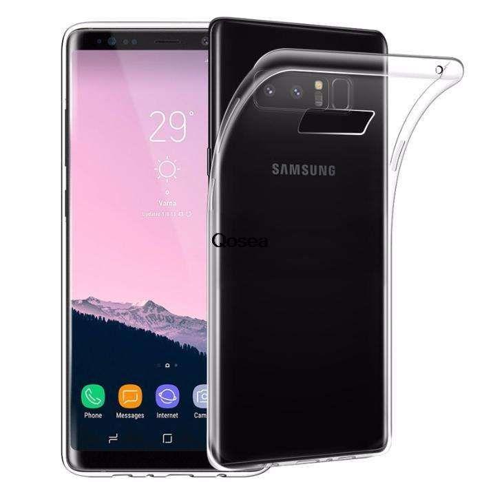 Samsung Note 8 9 - Pachet Husa Silicon Clara + Folie Silicon Curbata