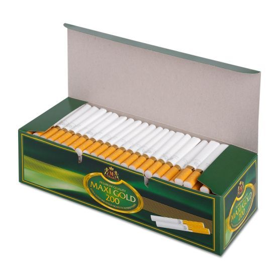 Tuburi tigari Maxi Gold pentru injectat tutun