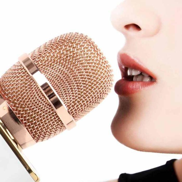 Microfon wireless portabil karaoke profesional cu boxe si bluetooth