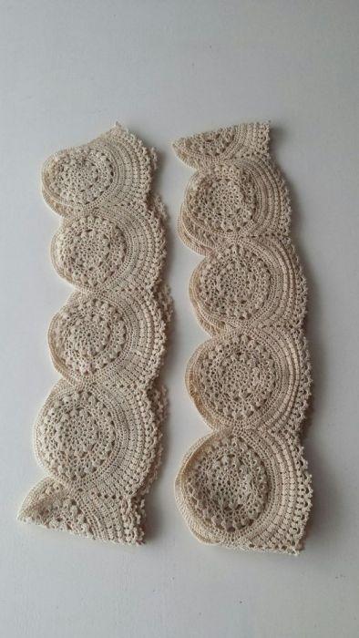 Ръчно плетена дантела от най-финни конци-дълга е 3м.40см