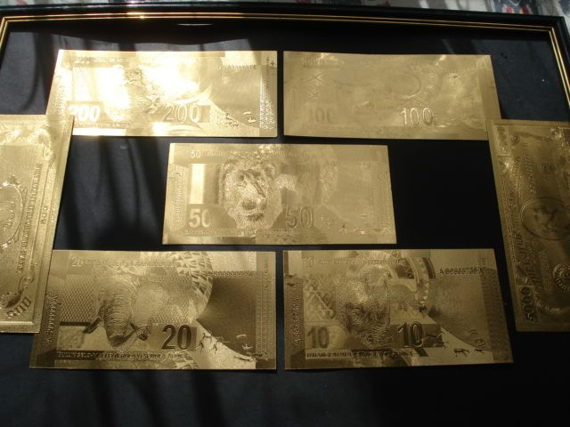 позлатени банкноти сувенири