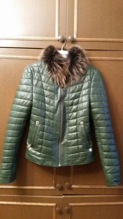 Новая кожаная куртка Турция мех на магните