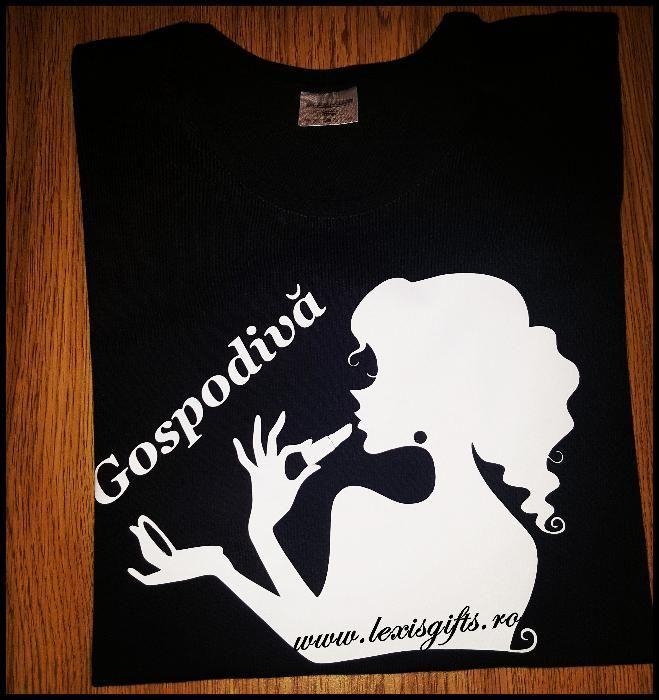 "Tricou Dama Personalizat ""GOSPODIVA"""