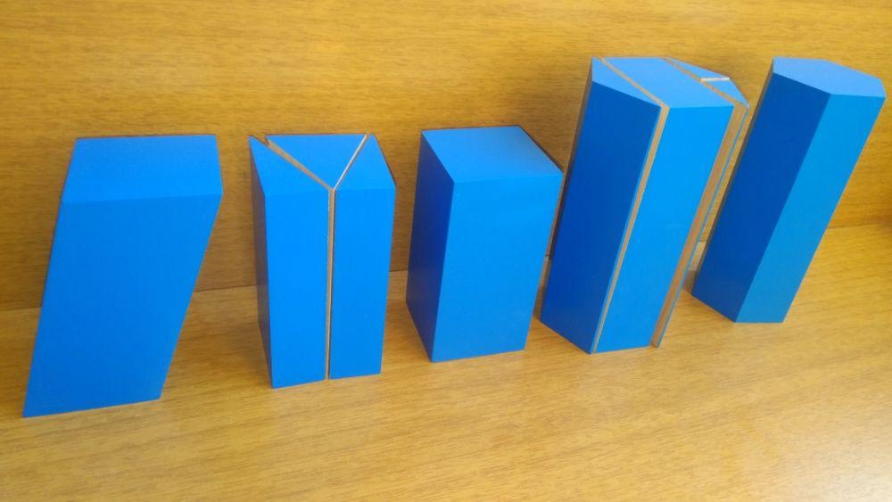 Триизмерни Монтесори математически фигури за сходство Монтесори матери