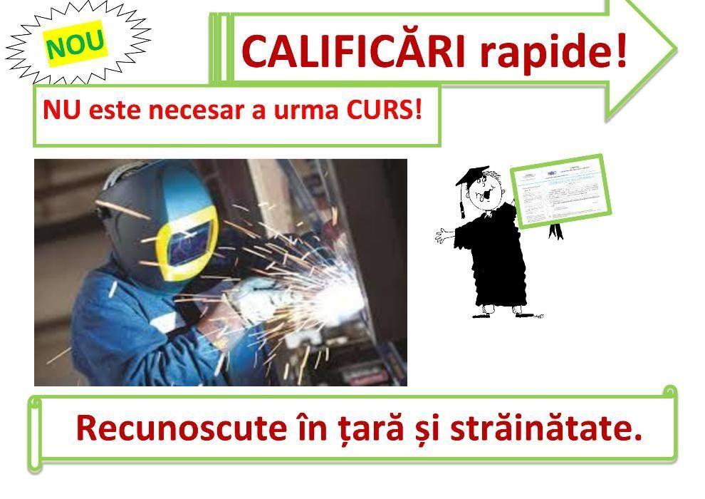 Curs RAPID calificare sudor electrician buldozer mașinist terasamente