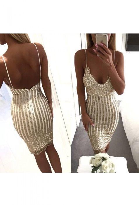 Rochie Sexy Club ocazie Glitter aurie Gold superba dama stil B&B Zara