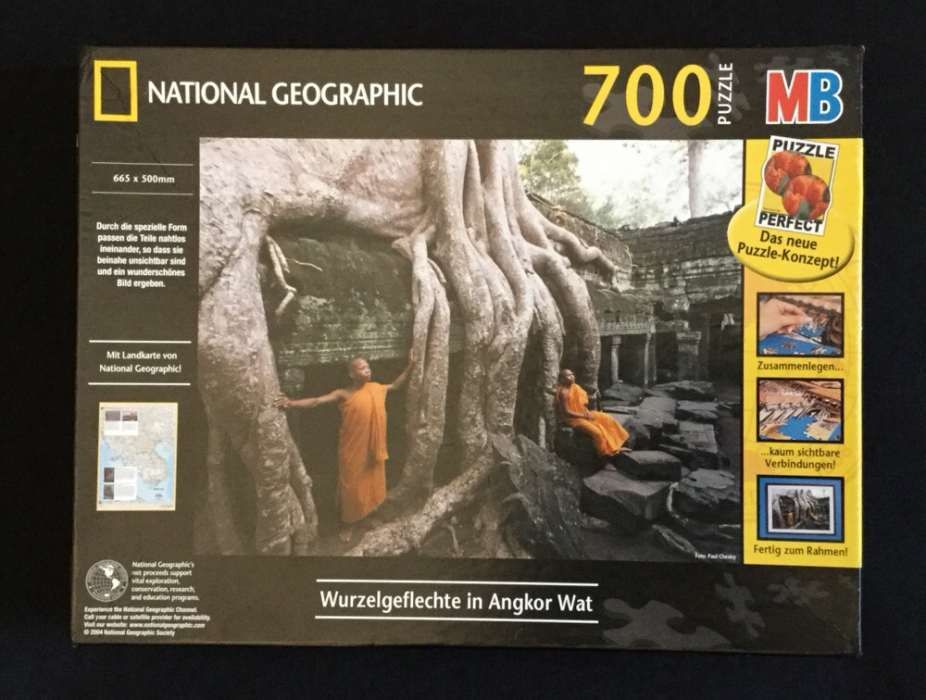 Puzzle National Geographic Wurzelgeflechte in Angkor Wat 700