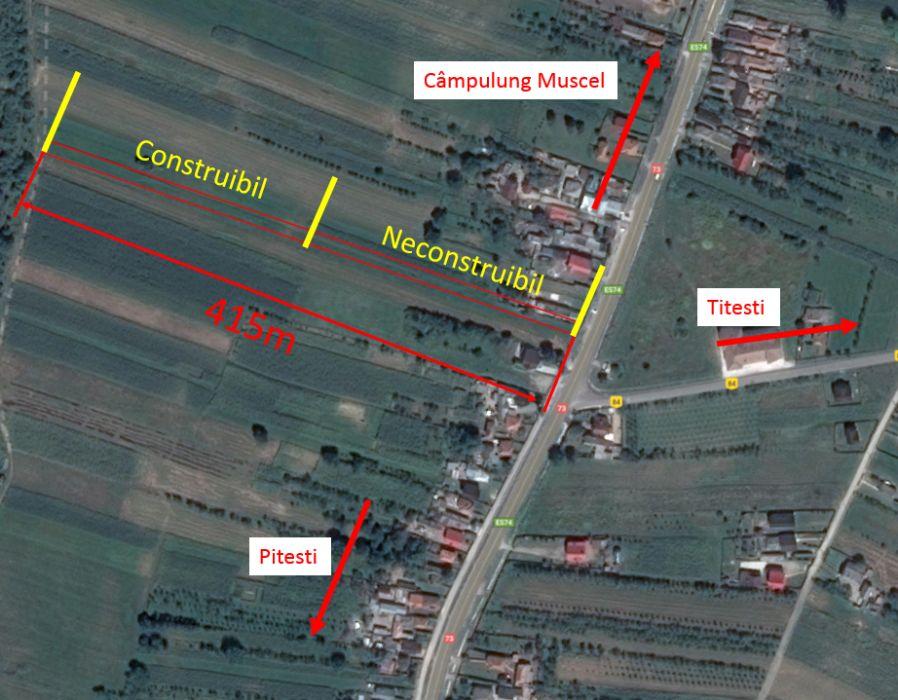 Vanzare  terenuri constructii Arges, Titesti  - 15000 EURO