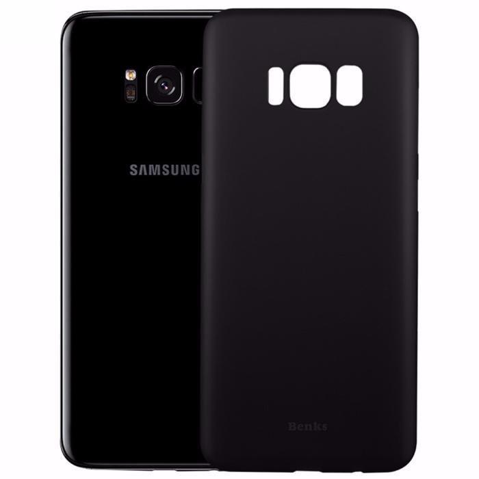 Samsung Galaxy S8 S8 Plus - Husa Ultra Slim Din Silicon Alba Mata/Neag