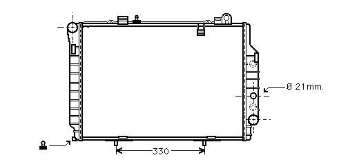 радиатор НОВ за Mercedes W202 C-Kl 2.5TD