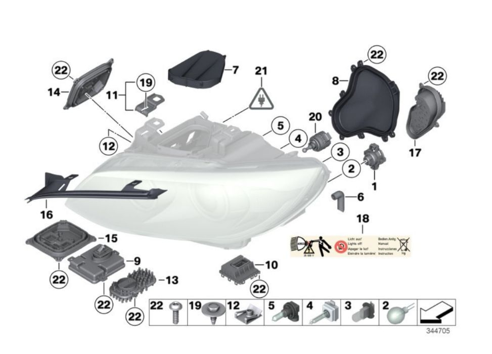 BMW 3er E92 E93 FACELIFT COUPE CABRIO Xenon / dynamic module LED far