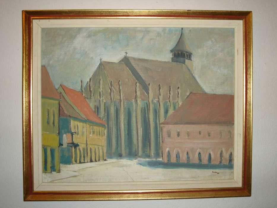 Pictura , tablou : Biserica Neagra,Brasov / ulei / Tolnay