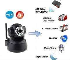 camera wireless cu microfon si night shot