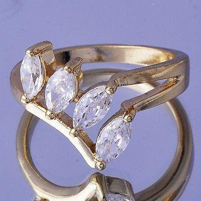GPR362,inel placat aur 18k, model superb, zircon alb