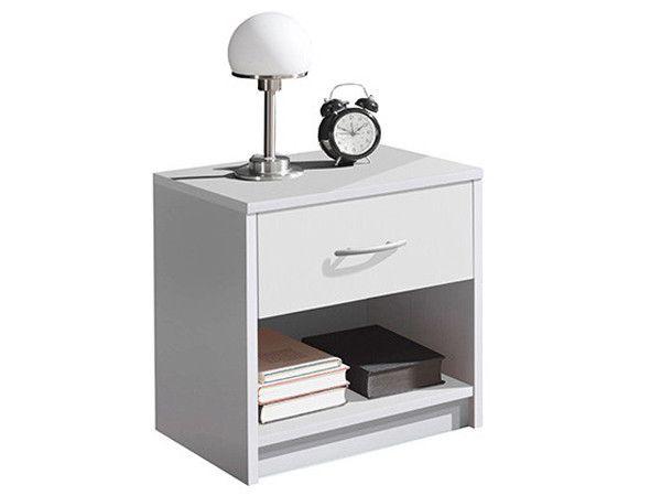 Бяло нощно шкафче