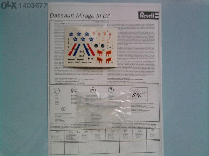 Модел на самолет mirage lll bz-revell 1/72