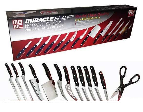 Set 13 cutite bucatarie Miracle Blade