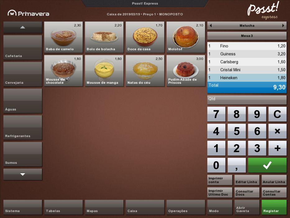 Software de faturação e gestão de Restauração, Bebidas e Similares