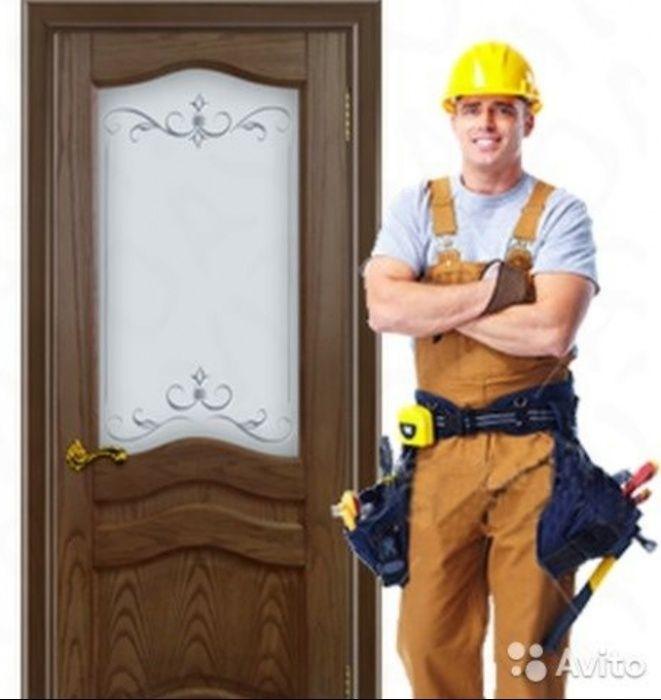 Срочная установка и ремонт дверей(раздвижных), замена стекла плинтуса.