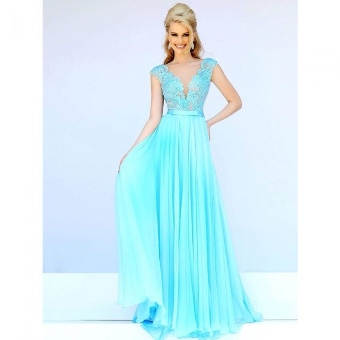 Платье Sherri Hill (нежно голубой)