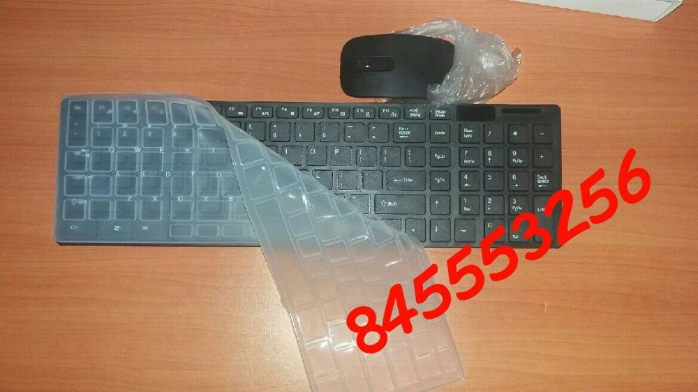 Kit de teclado e mouse wireless com protector de poeira Maputo - imagem 2