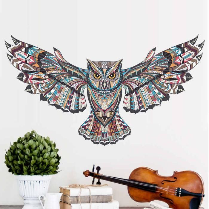 Stiker decorativ de perete - Bufnita