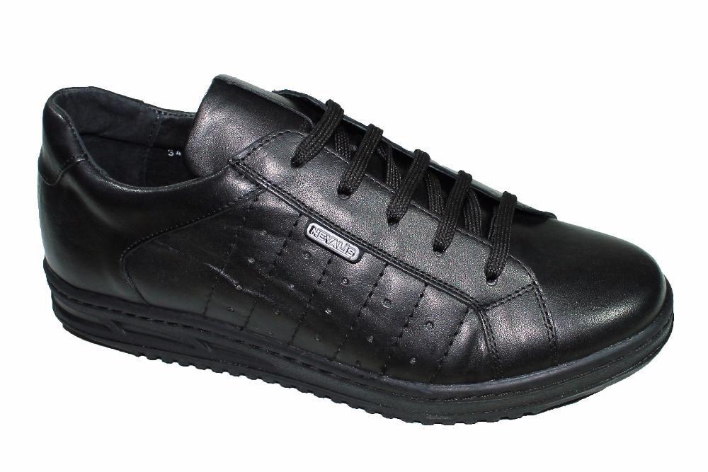 Adidasi piele negri/albi Nevalis barbatesti noi 39- 46 made in Romania